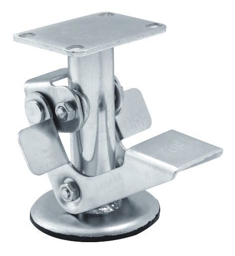 Albion-LF-Series-Standard-Floor-Lock-4-12-Length-x-4-width-Plate-34-Retracted-Clearance-For-16-Series-6-Wheel-Caster-Pack-of-4