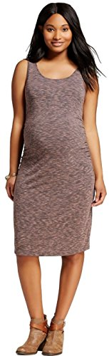 Liz Lange Maternity Dress - Liz Lange Women's Maternity Print Tank Dress (X-Large, Nectar/Gray)