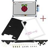 5 inch HDMI Touch LCD Display (B) with Bicolor Case Supports mini PC including Raspberry Pi 3 2 1 Model B B+ A+ Banana Pi Pro BeagleBone Black @XYGStudy