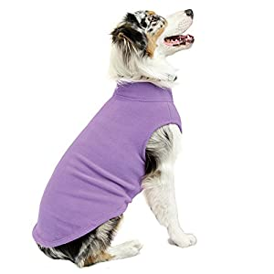 Gooby Stretch Fleece Pull Over Cold Weather Dog Vest, Lavender, 5X-Large