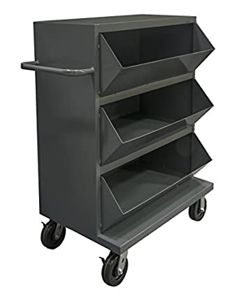 Charming Durham MSB3 2036 95 Mobile Storage Bin Cart With 3 Compartments