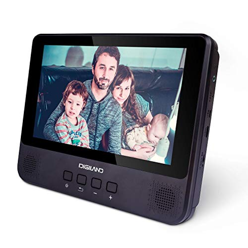 DigiLand Portable DVD Player/Android Wi-Fi Tablet Combo 9-Inch Touchscreen, Quad-Core 1.3GHz, 16GB Storage, with Headrest Strap, AC Charger Adapter and Car Charger, for Car and Home Use (DL9002)