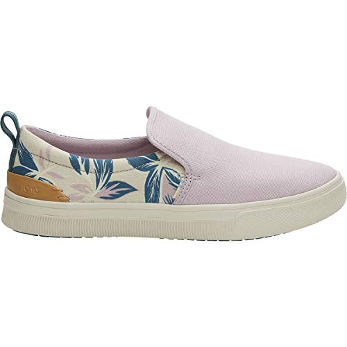 TOMS Women's TRVL LITE Slip-On Burnished Lilac Floral Print/Canvas 8.5 B US