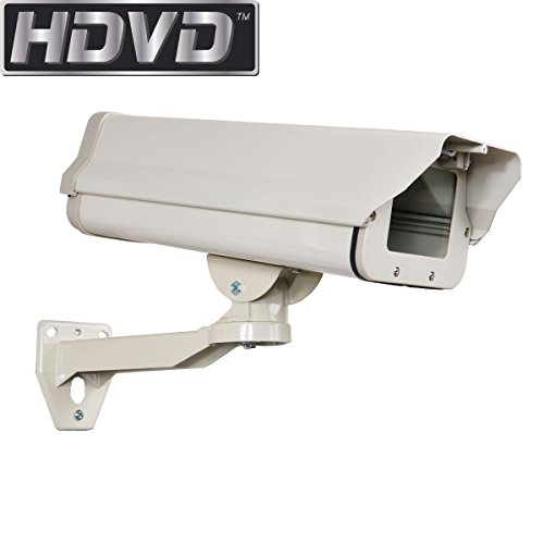 HDVD™ Outdoor Weatherproof Heavy Duty Aluminum CCTV Security Surveillance Camera Housing Mount (Heavy Duty Camera Housing)