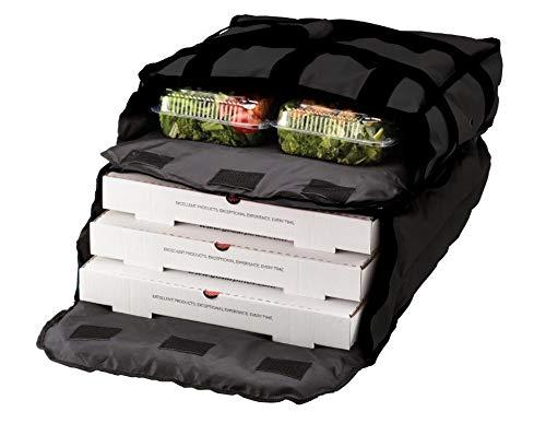 Insulated Black Nylon 2-Compartment Hot/Cold Pizza Delivery Bag 20