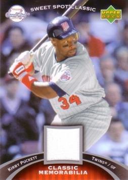 2007 Upper Deck Sweet Spot Classic Memorabilia #CM-KP Kirby Puckett Game Worn Jersey Baseball Card