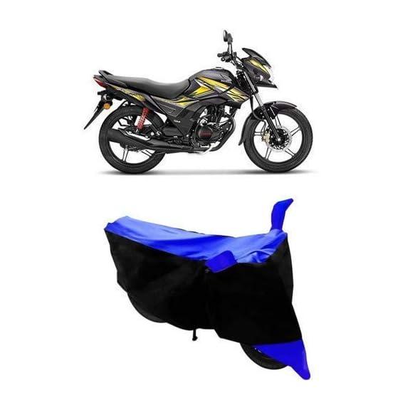 PLATONIC HUB Finest Honda CB Shine Bike Cover Waterproof with Ultra Surface Body Protection. (Blue-Strip)
