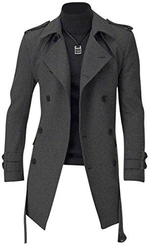 Cappotto Casual Moda Giacca Sottile Uomo Tendenza Jeansian 8948 Blazer Darkgray Capispalla Design Inverno YxZqw