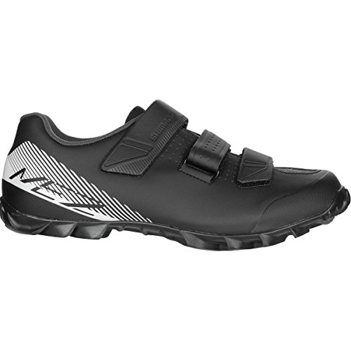 Black Mens Bike Shoes - SHIMANO 2017 Men\'s ME2 Mountain/Enduro Cycling Shoe - Black/White (Black/White - 47.0)