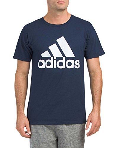 adidas Men's Logo T-Shirt (Navy/White, X-Large)