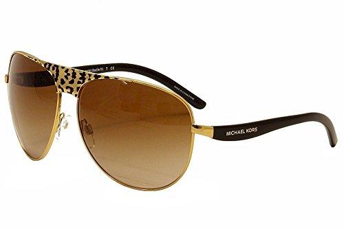 MICHAEL KORS Sunglasses MK 1006 105713 Black Gold Leopard/Black - Michael Kors Leopard Sunglasses