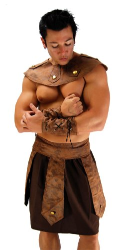 Sexy Mens Roman God Costume, Spartan Warrior -