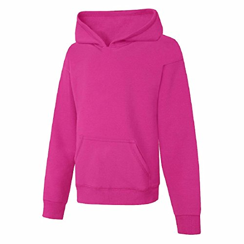 Hoody Youth Corporate - Hanes Youth ComfortBlend EcoSmart Pullover Hood, Amaranth, Small