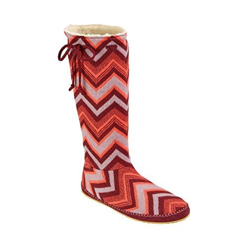 Multi Sanuk Slouch Snuggle Boot Up Chevron Burgundy Women's wnqOx4qR