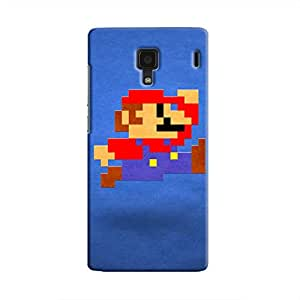 Cover It Up - Mario Pixelated Blue Redmi 1s Hard Case