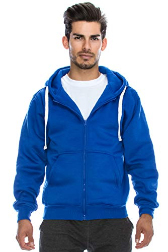 Plus Size Hipster Hip Hop Basic Heavy Weight Zip-Up Royal Hoodie Jacket 5XL by JC DISTRO