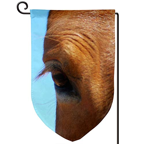 Dadi-Design Horse Eye Sky Lashes Home Garden Flags Double-Sided Printing All-Weather Polyester 12x18inch Decoration
