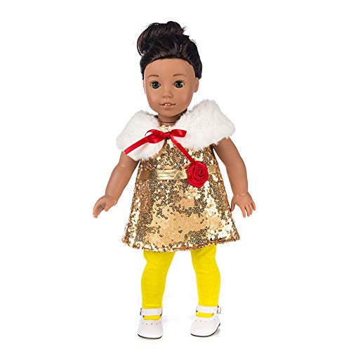lothes Sequin Dress Lady Style 18 Inch American Boy Doll Accessory Girl Toy ()