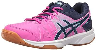 ASICS Women's Gel-Upcourt Volleyball Shoe, Pink Glow/Indigo Blue/Aqua Splash, 5 M US
