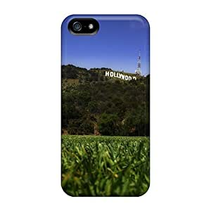Fashion Tpu Case For Iphone 5/5s- Hollywood Mountain Defender Case Cover