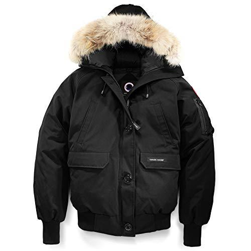 Winter Goose Down Women's Canada Chilliwack Bomber Black Jacket (L)