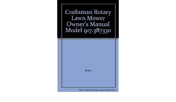 craftsman push mower owners manual
