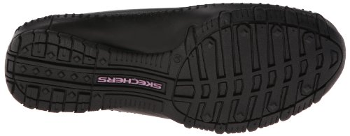 basso Pedestrian Scarpe Leather Skechers a Donna collo Bikers Black Nero OXOwx