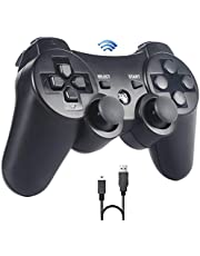 Sefitopher PS3 Wireless Controller Bluetooth Game Controller für Playstation 3 für PS3 Controller Gamepad Joystick Dual-Vibration 6-Achsen Joypad mit Ladekabel