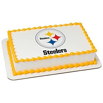 Amazoncom Pittsburgh Steelers Licensed Edible Cake Topper 4581