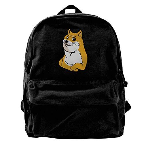 Super Star Shiba Inu Faces Canvas Shoulder Backpack Limited Edition Premium New Chrismats Baseball Backpack for Men & Women Teens College Travel Daypack Black