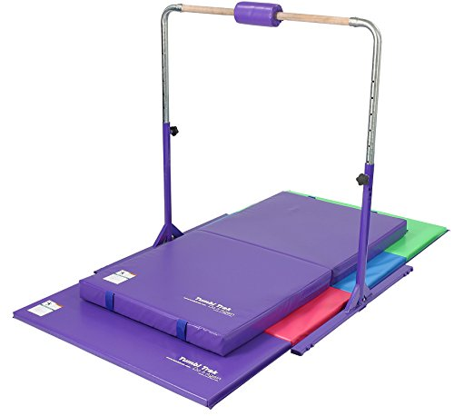 Tumbl Trak Junior Kip Bar with Landing Mats, Purple for sale  Delivered anywhere in USA