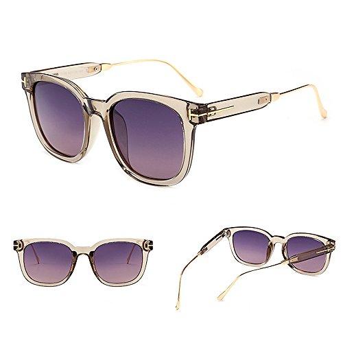 Libre viaja Aire de Protección UV Coloreada C6 Mujeres Color Que Grande Sol Lente Conducción al Gu para Gafas de Cuadrado Forma Marco Peggy C1 xqRpPAwU4