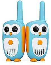 Retevis RT30 Walkie Talkie Bambini Gufo Aspetto Facile da Utilizzare 1 Canali 2 Pulsanti Ricetrasmittenti Bambini Indicatore LED Suoneria Walky Talky Bambini Giocattolo (Blu,1 Coppia)