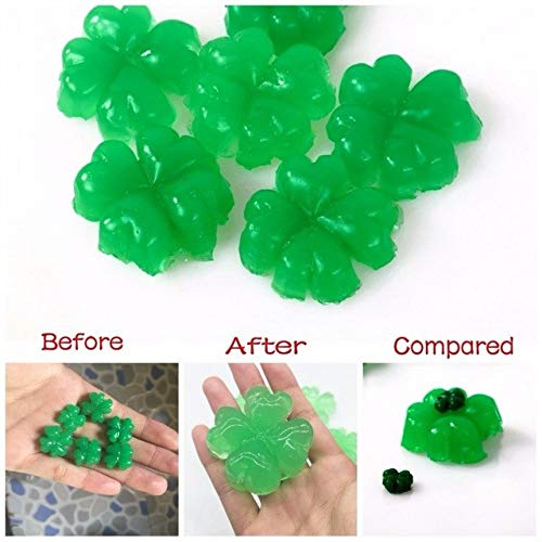 FairOnly 50g/lot Green Clover Shape Water Beads Crystal Soil Kids Growing Toy Crystal Mud Water Balls Wedding/Home Decor SJ007 Show