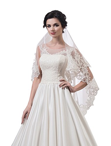 "Bridal Veil Vanessa from NYC Bride collection (mid-length 45"", white) by NYC Bride"