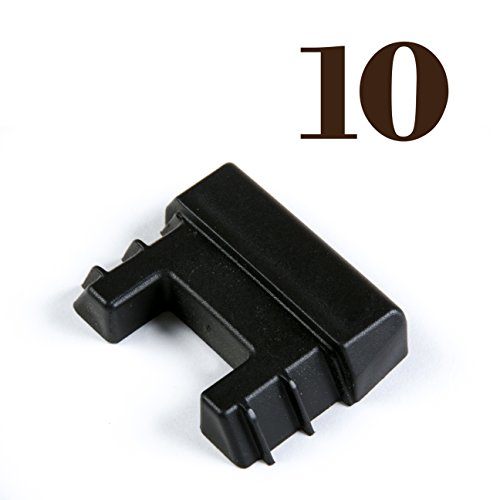 10 E Track Tie-Down Rail End Caps - Durable Black Plastic End Protector Covers for VERTICAL E Track Tie-Down Rails: E-Tracks NOT included