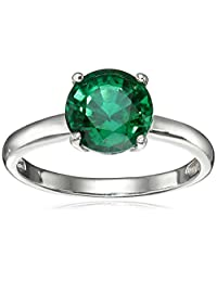 Gemstone Solitaire Ring in Sterling Silver (8mm)