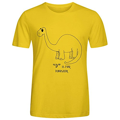icefish-funny-d-is-for-dinosaur-mens-t-shirt-yellow