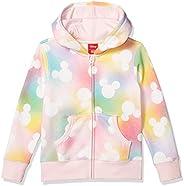 Spotted Zebra Girls Disney Star Wars Marvel Frozen Princess Fleece Zip-Up Sweatshirt Hoodies Hooded Sweatshirt