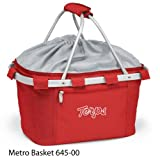 PICNIC TIME 645-00-100-312-0 University of Maryland Embroidered Metro Picnic Basket, Red