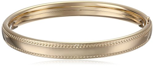 UPC 696736745522, 14k Gold-Filled Polished Beaded Edge Hinged Bangle Bracelet