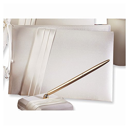 Audrey Satin Guest Book - Perfect Wedding Gift Home Garden Living Gifts by Goldia