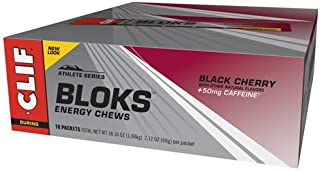 product image for Clif Bar Black Cherry Shot Bloks w/Caffeine - Box of 18 - black cherry, box of 18 by Clif Bar