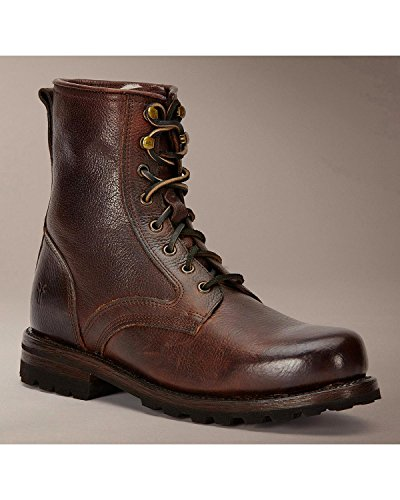 Frye Men's Warren Combat Blazer Brown Tumbled Leather/Shearling Boot