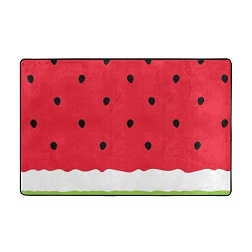 Watermelon Carpet 60 X 39 in,Soft to Touch, Fine Down,not Ball, Not Fade,Non-Slip,Durable ()