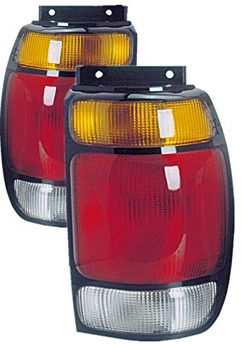 For 1995 1996 1997 Ford Explorer Rear Tail Light Taillamp Assembly Driver Left and Passenger Right Side Pair Set Replacement FO2800113 FO2801113 1995 95 Ford Explorer Tail