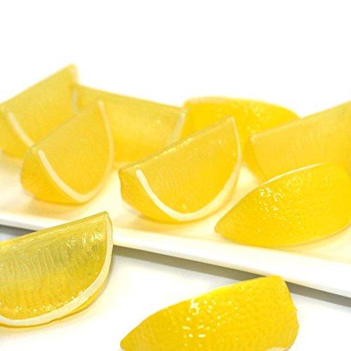 DLUcraft Artificial Fruit Yellow Lemon Block Wedge Slice Simulation Lifelike Fake for Home Party Kitchen Decoration Teaching Aids-10PCS