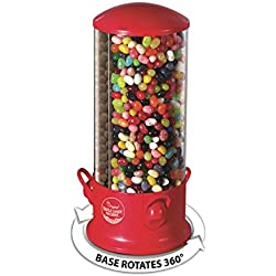 Handy Gourmet Triple Candy Machine - Store & Organize 3 Unique Snacks -360 Degree Spin (Red)