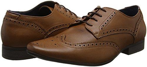 Burton Menswear LondonRedford - Zapatos de Vestir Hombre, Color Marrón, Talla 43
