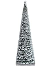 5' Tinsel Pop-Up Artificial Christmas Tree,Collapsible Pencil Christmas Trees Features Sequins Accents for Apartments,Dorm Rooms,Fireplace or Party